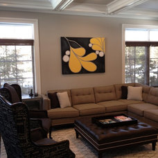 Contemporary Family Room by Michelle Winick Design