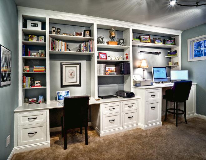 Traditional Family Room by Hammerhead Handyman & Remodeling, LLC