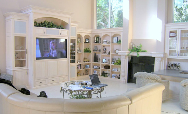 Contemporary Family Room by Design Elite Tampa Bay