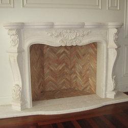 Custom Carving French Style Mantel, Vintage Firebrick -