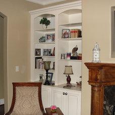 Traditional Family Room by RLK Designs, LLC