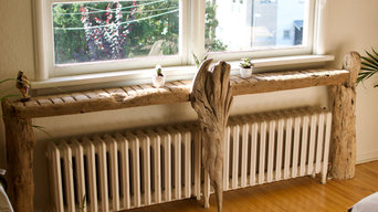 Custom Driftwood and Cedar Furniture & Shelving