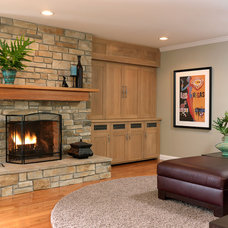 Transitional Family Room by Marcia Moore Design