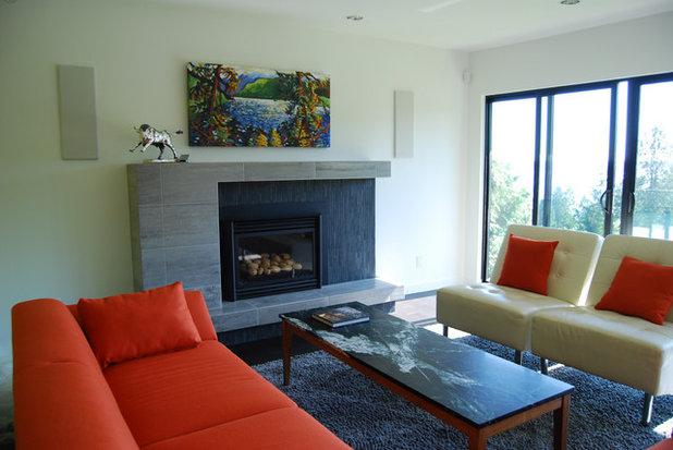Contemporary Family Room by Portal Design Inc