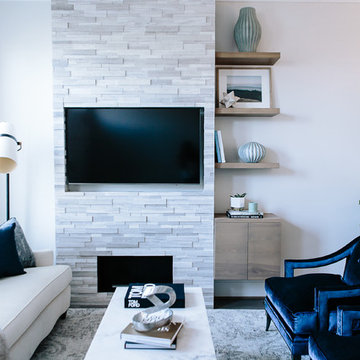 Custom Fireplace Wall and Built-ins