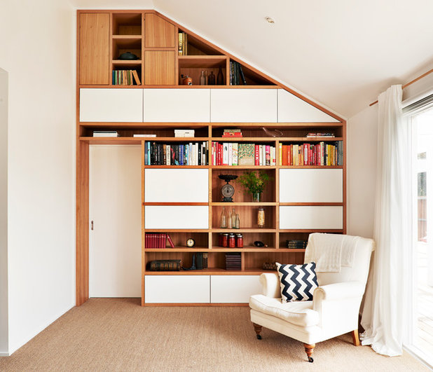 Scandinavian Family Room by AULD DESIGN