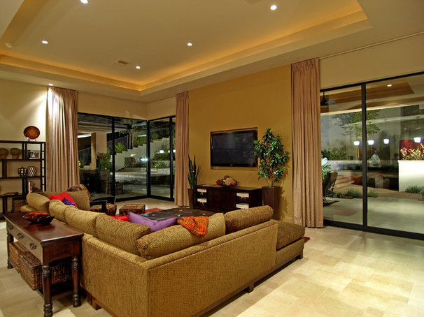 Contemporary Family Room by Marteen Moore Interior Planning