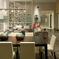 Contemporary Family Room by Charco DESIGN & BUILD Inc.