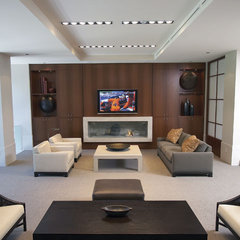 contemporary media room by lascala.ca