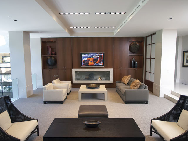 Contemporary Family Room by lascala.ca