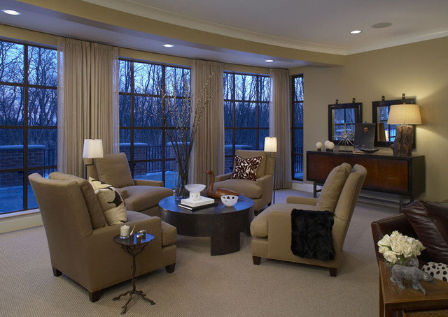 Traditional Family Room by CBI Design Professionals, Inc.