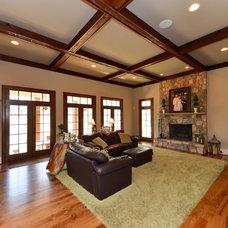 Traditional Family Room by SEKAS HOMES LTD
