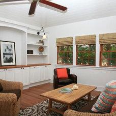 Tropical Family Room by jamie jackson design