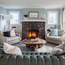 Beach Style Family Room by Stone Creek Builders