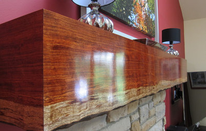 Mantel Makeover: From Builder's Grade to Live-Edge Wood