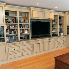 Traditional Family Room by A&E Construction