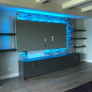 Custom Media Walls & Niches (Various Locations)