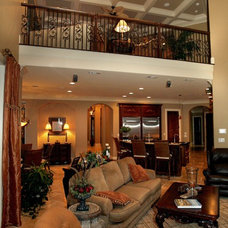Eclectic Family Room by Sater Design Collection, Inc.