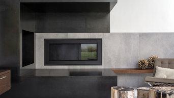 Custom Steel Fireplace Surround - Valdes Residence