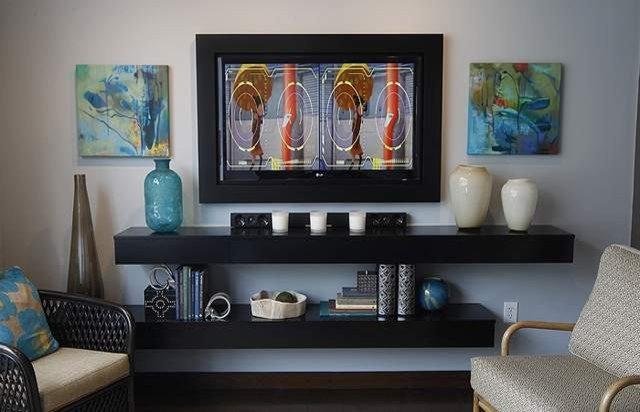 Modern Family Room by Michele Nieter - Arbor Living Interiors