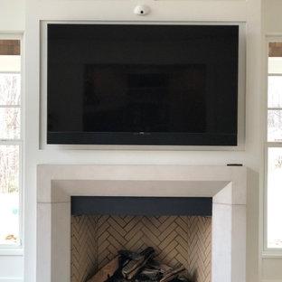 Custom-TV -Built-In Above Fireplace