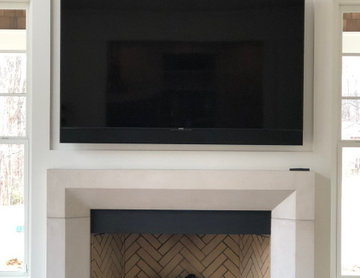 Custom-TV -Built-In Above Fireplace