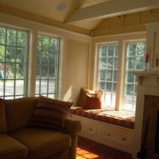 Traditional Family Room by Michelle Jamieson Interiors / New England Style
