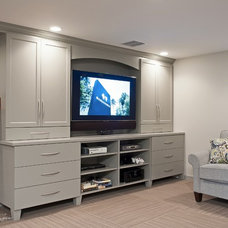 Contemporary Family Room by CW Design, LLC