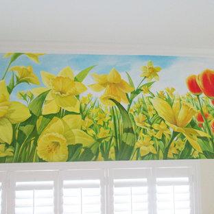 Daffodil mural on wall