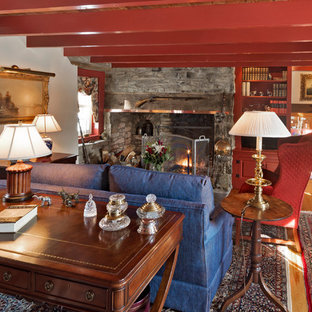 Inspiration for a country family room remodel in Philadelphia