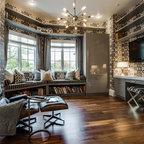 Rustic cabin farmhouse family room santa barbara for Casas modernas llc west 12th street dallas tx