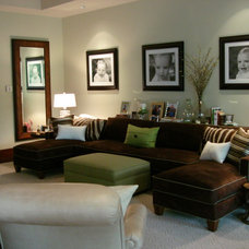 Traditional Family Room by Libby Langdon Interiors, Inc.
