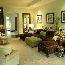 Contemporary Family Room by Libby Langdon Interiors, Inc.
