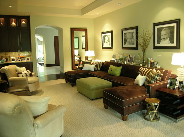 Contemporary Family Room by Libby Langdon Interiors, Inc.