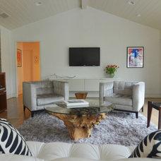 Contemporary Family Room by Sarah Greenman