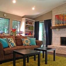 Modern Family Room by Sarah Greenman