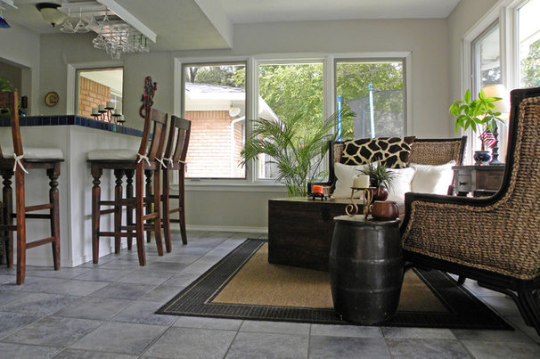 Tropical Family Room by Sarah Greenman