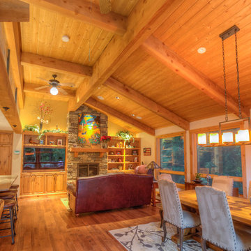 Damascus, OR Residence | Carport, Garden Art Piece & Interior Exposed Beam