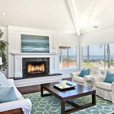 Beach Style Family Room by Tiffany Hunter Home