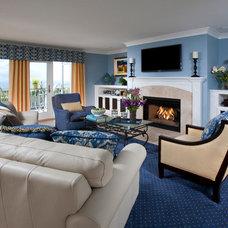 Traditional Family Room by Cindy Smetana Interiors