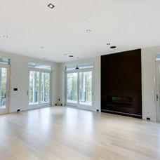 Contemporary Family Room by JacksonBuilt Custom Homes