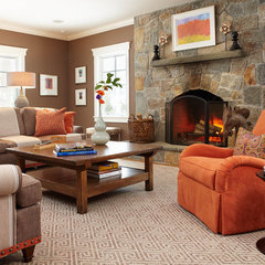 traditional family room by Last Detail Interior Design