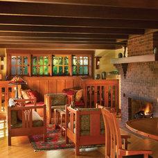 Craftsman Family Room by HartmanBaldwin Design/Build