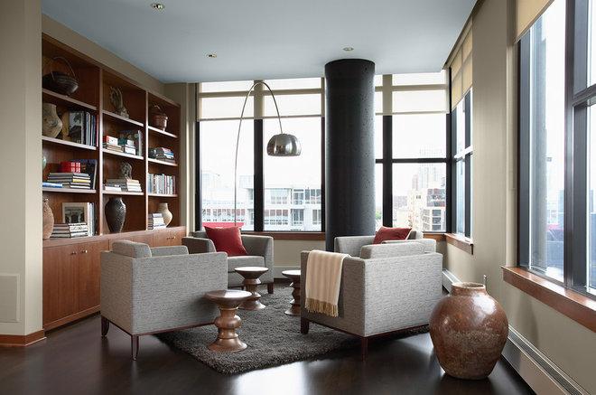 Contemporary Family Room by David Heide Design Studio