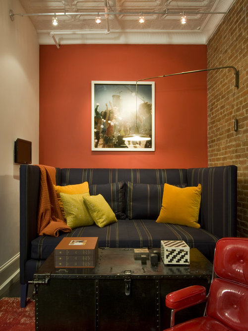 Burnt orange walls home design ideas pictures remodel - Burnt orange accent wall ...