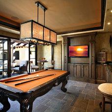 Mediterranean Family Room by Sanctuaries Interior Design