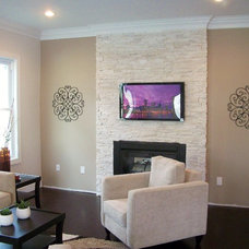 Contemporary Family Room by The Staging Fashionista