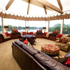 Traditional Family Room by One swanky shop