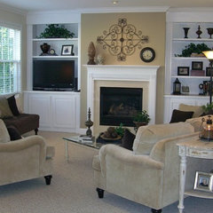 traditional family room by Redesign Right, LLC
