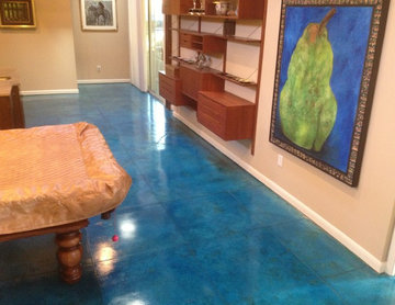 Decorative Dyed Stained Basement Floor